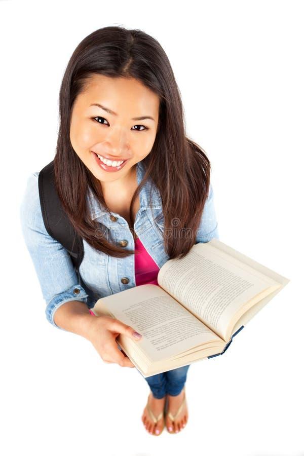 Schöner asiatischer Student stockbild