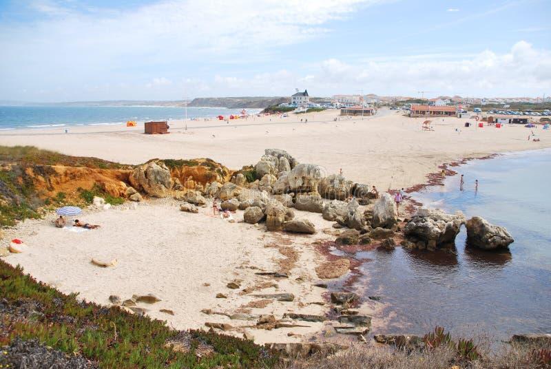 Schöner Baleal Strand bei Peniche, Portugal stockbild