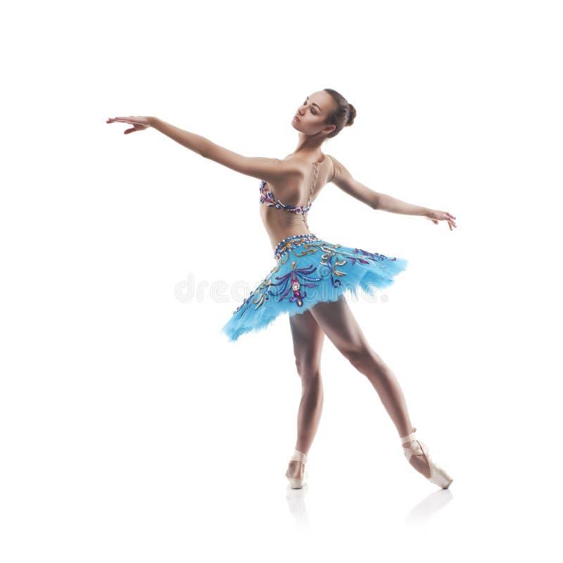 Schöner Balletttänzer getrennt stockbilder