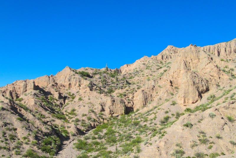 Schöner Berg in Tilcara-Dorf, Argentinien lizenzfreie stockfotografie
