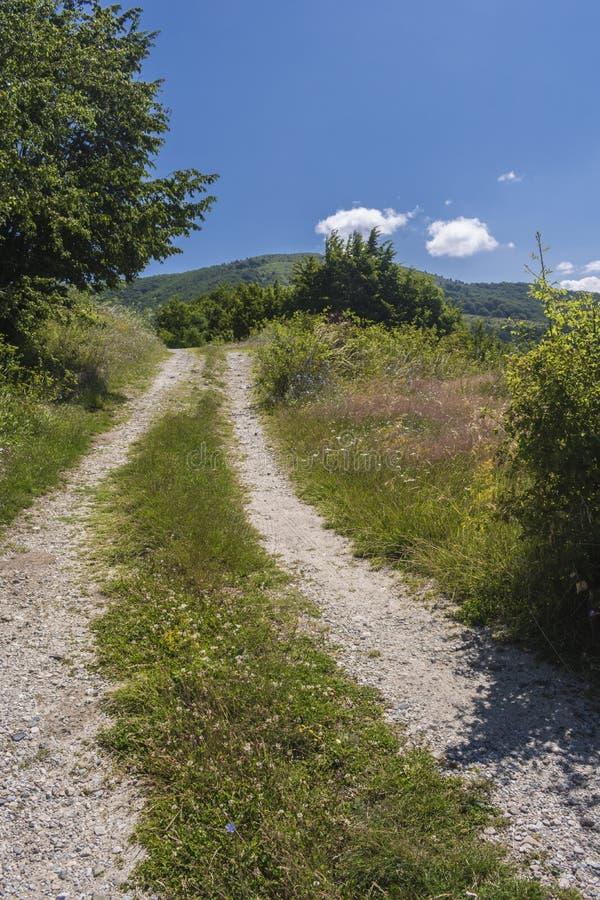 Schöner Bergblick vom Troyan-Durchlauf Troyan Balkan ist außergewöhnlich malerisch und bietet eine Kombination wunderbaren mou an lizenzfreies stockbild