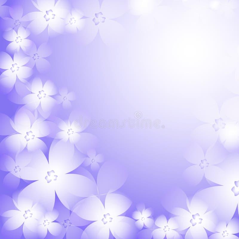 Schöner blauer Blumenhintergrund. lizenzfreie abbildung