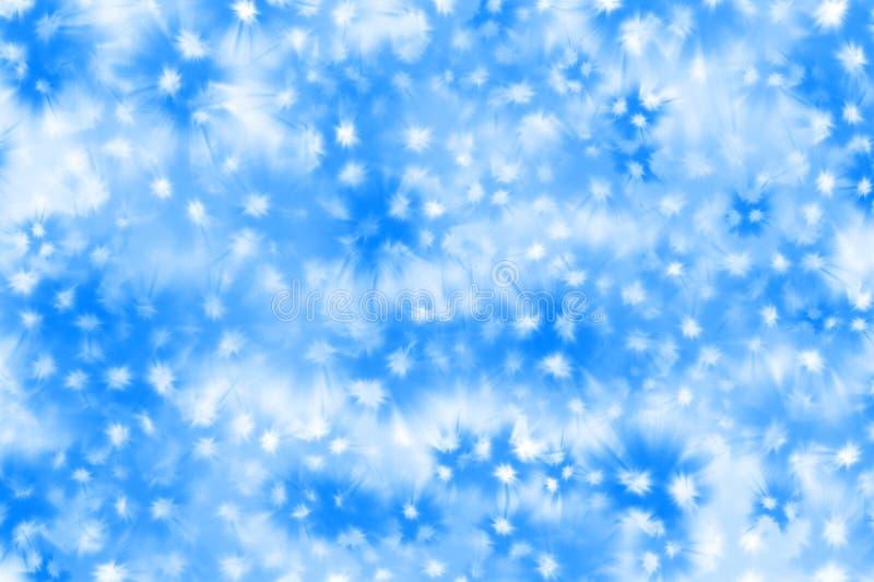 Schöner blauer Hintergrund mit weißen Punkten lizenzfreies stockfoto
