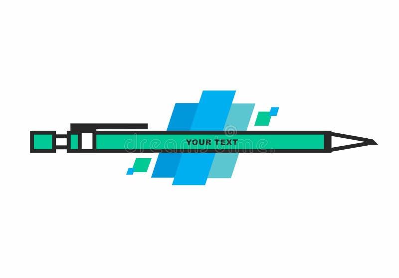 Schöner Bleistift lizenzfreie abbildung