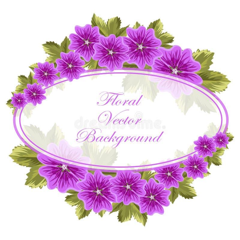 Schöner Blumenhintergrund mit Malven stock abbildung