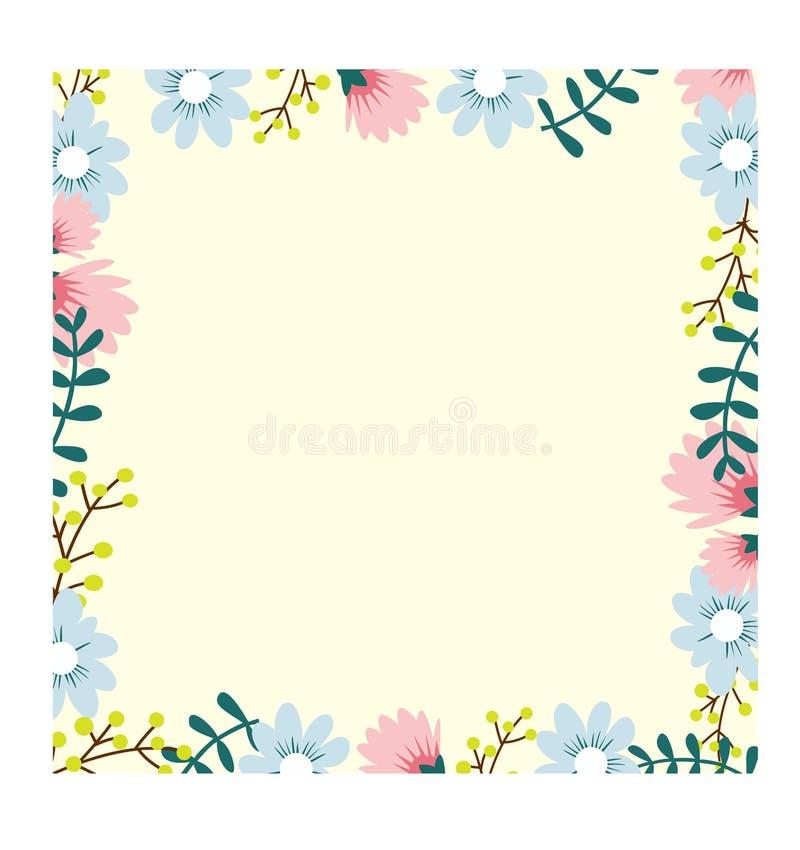 Schöner Blumenrahmen lizenzfreie abbildung