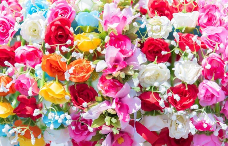 Schöner Blumenstrauß Bunte Blumen für die Heirat und Betrug stockbild