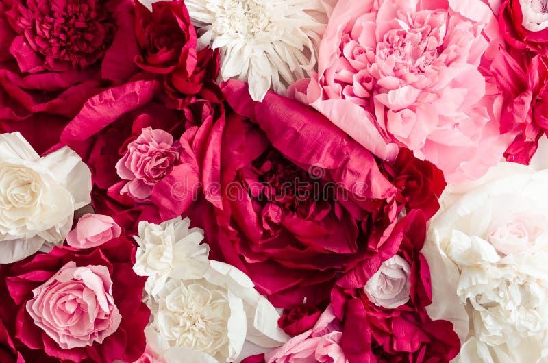 Schöner Blumenwandhintergrund lizenzfreie stockbilder