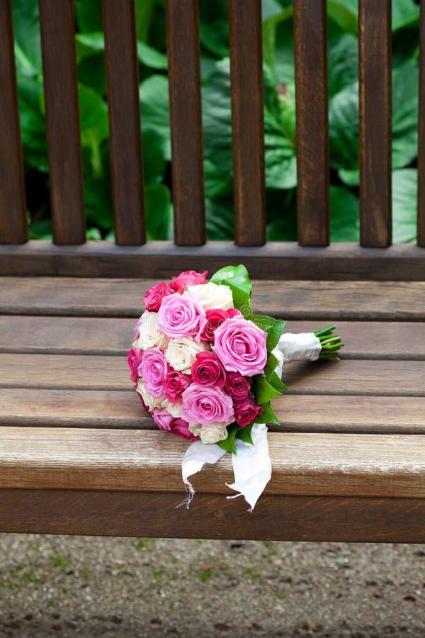 Schöner Brautblumenstrauß stockfoto
