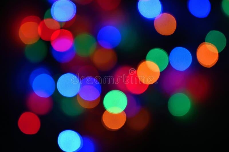 Schöner bunter undeutlicher Hintergrund für Weihnachten und guten Rutsch ins Neue Jahr Abstrakt - bokeh lizenzfreie stockbilder