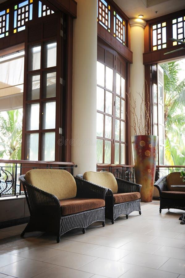 Hotel-Lobby stockbild