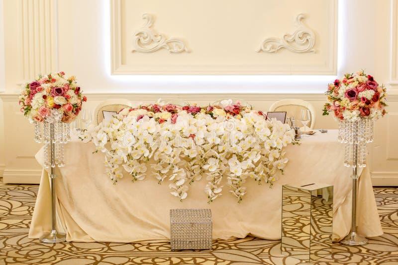 Schöner Dekor für die Heirat lizenzfreies stockfoto