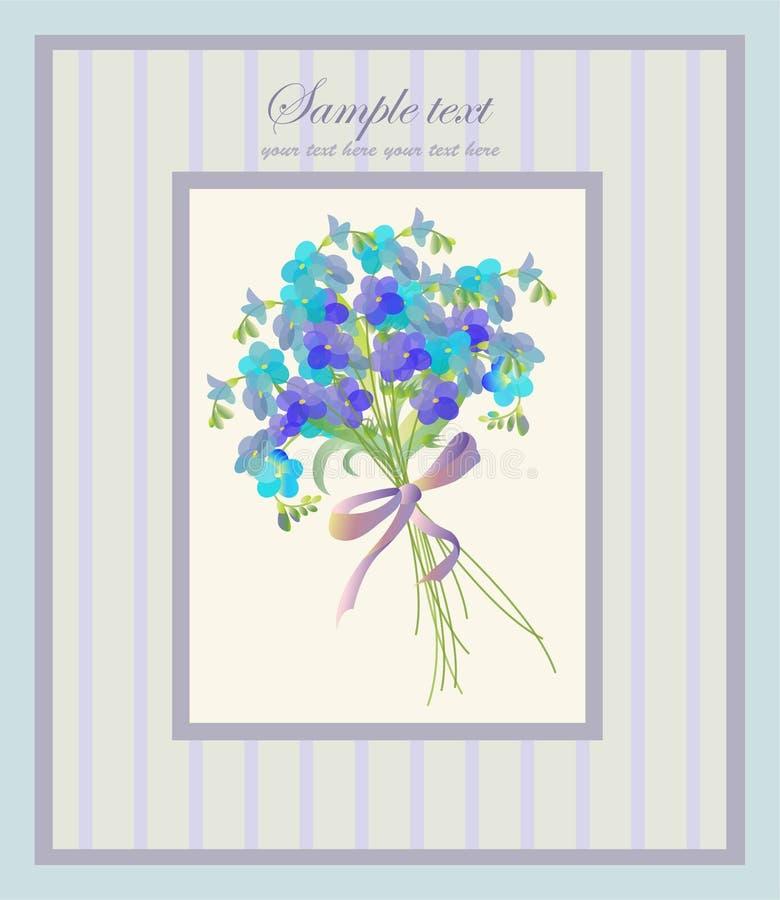 Schöner dekorativer Rahmen mit Blumen. Grüßen Sie vektor abbildung