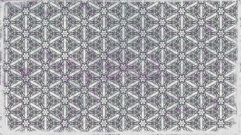 Schöner eleganter Hintergrund Entwurf der grafischen Kunst Illustration Gray Vintage Floral Wallpaper Patterns vektor abbildung