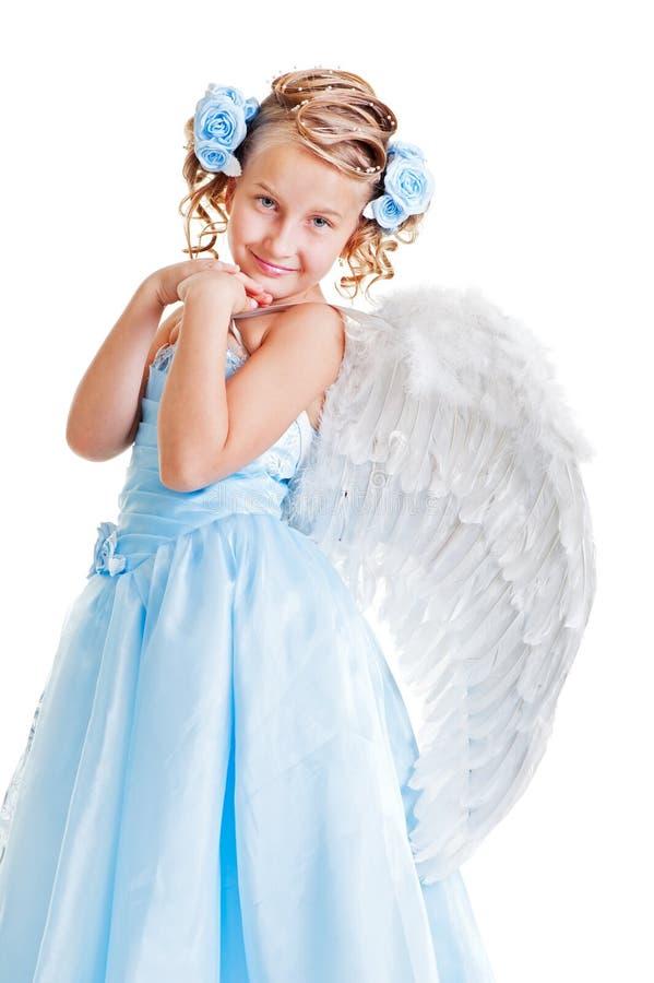 Schöner Engel des smiley lizenzfreie stockfotografie