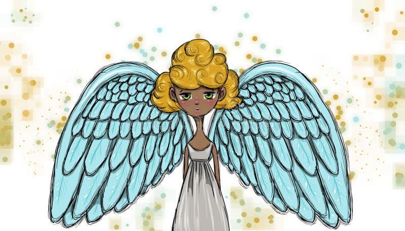 Schöner Engel, Illustration vektor abbildung