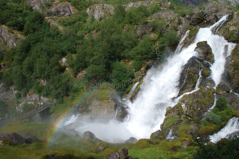 Schöner Fluss in Norwegen stockfotografie