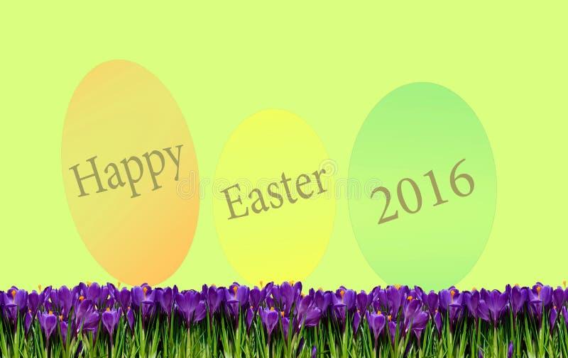 Schöner Frühlingshintergrund mit Ostern-Grüßen zu stock abbildung