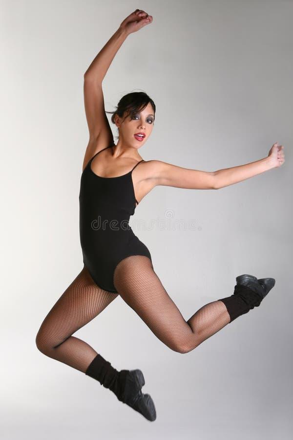 Schöner Frauen-Tänzer stockbild