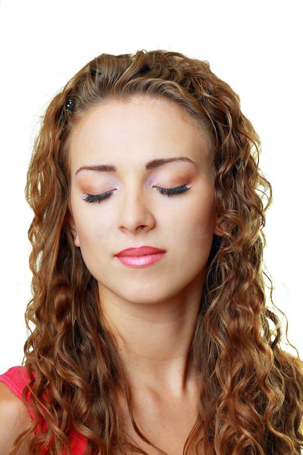 Download Schöner Frauengesichtsabschluß Oben Stockbild - Bild von hintergrund, kaukasisch: 27730855