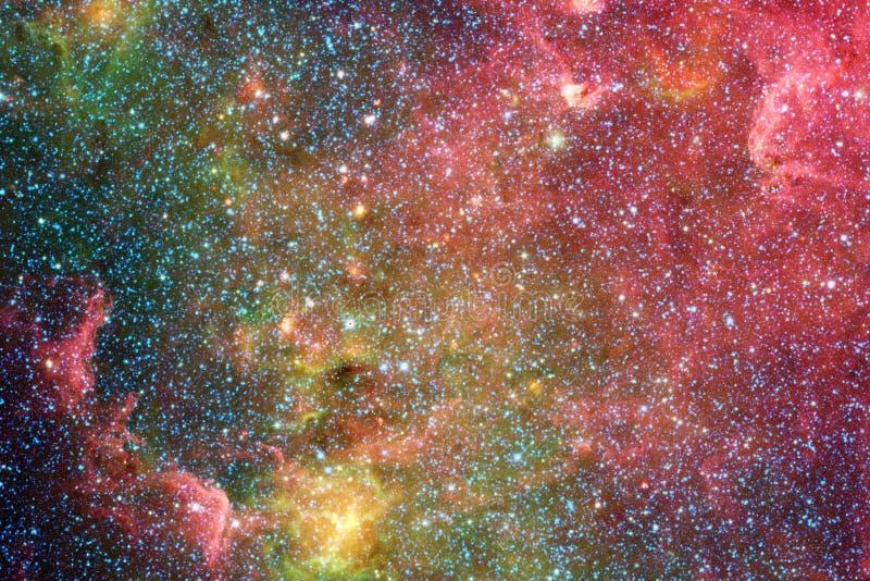 Schöner Galaxiehintergrund mit Nebelfleck, stardust und hellen Sternen stock abbildung