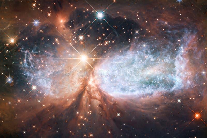 Schöner Galaxiehintergrund mit Nebelfleck, stardust und hellen Sternen Elemente dieses Bildes geliefert von der NASA lizenzfreie abbildung