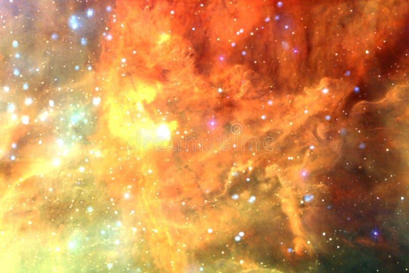 Schöner Galaxiehintergrund mit Nebelfleck, stardust und hellen Sternen lizenzfreie abbildung