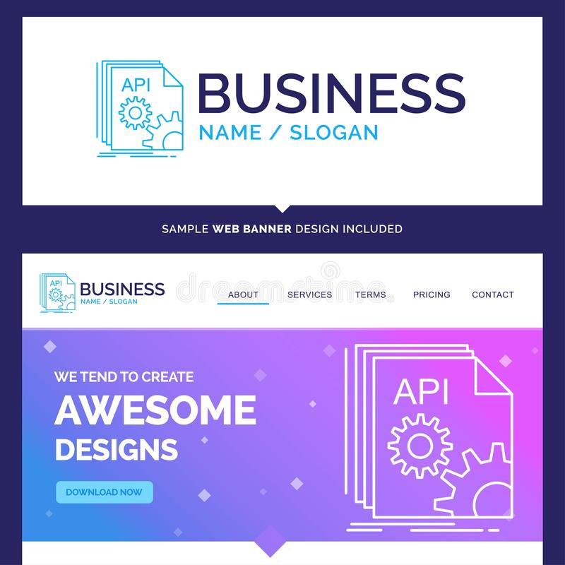 Schöner Geschäfts-Konzept-Markenname API, App, Kodierung, entwickeln sich stock abbildung