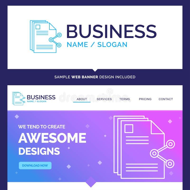 Schöner Geschäfts-Konzept-Markennameinhalt, Dateien, teilend, s stock abbildung