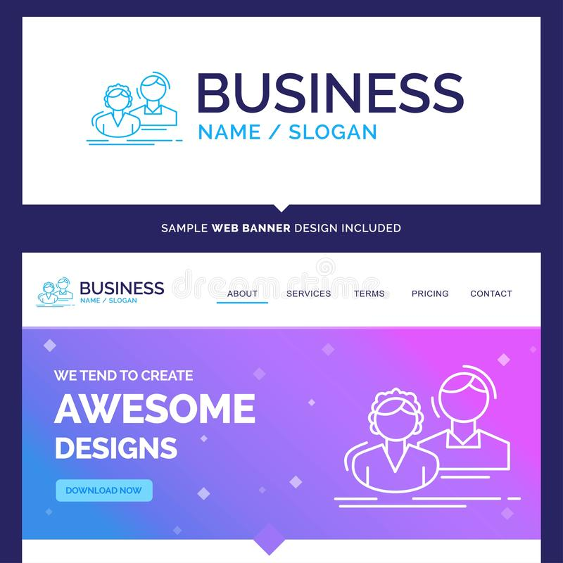 Schöner Geschäfts-Konzept-Markennamestudent, Angestellter, Gruppe lizenzfreie abbildung