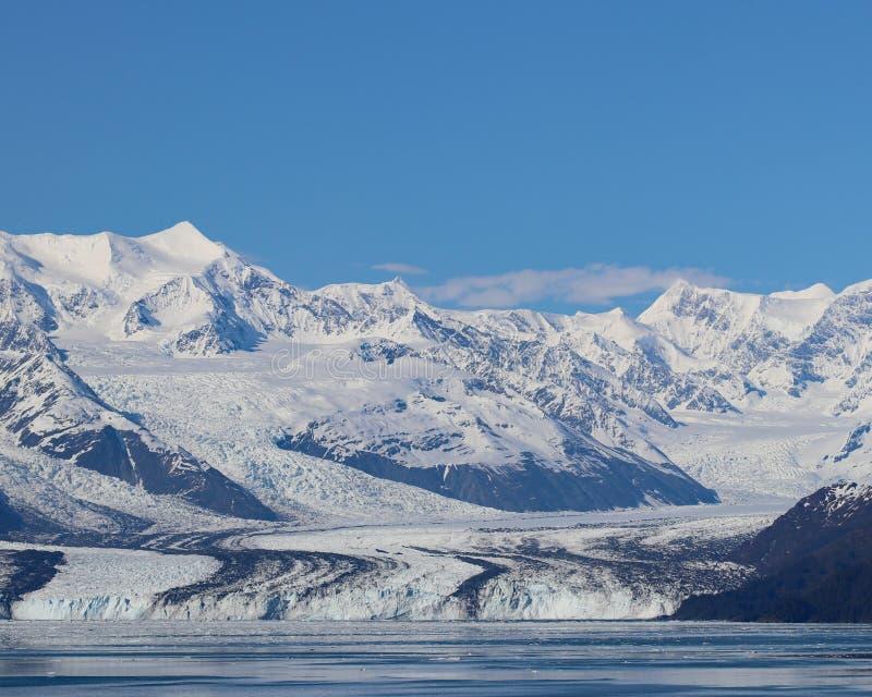 Schöner gestreifter Harvard-Gletscher lizenzfreies stockfoto