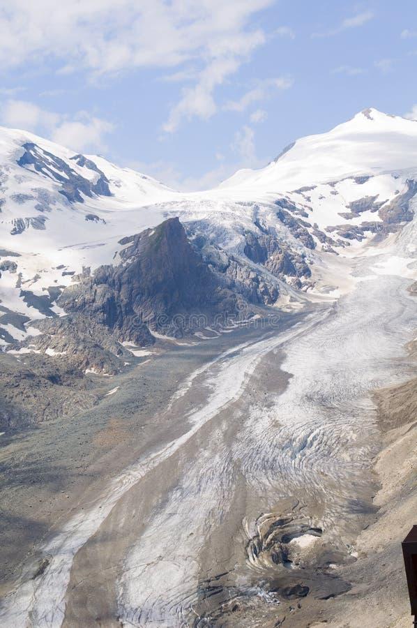 Schöner Gletscher Pasterze. Österreichische Alpen stockfotografie