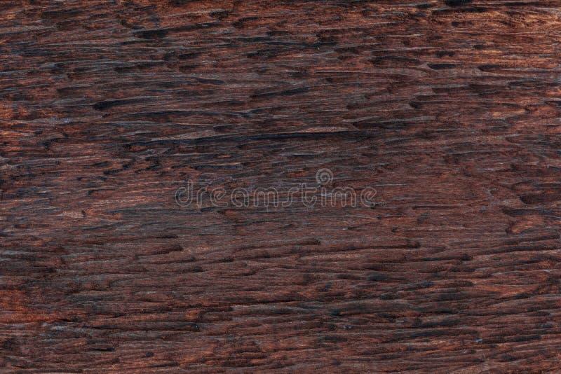 Schöner hölzerner Hintergrund Vom rustikalen Aspekt und dunkel, ockerhaltig, Braun, geröstete, schwarze Töne lizenzfreies stockbild