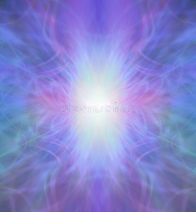 Schöner heiliger Sapphirine-Energie-Bildungs-Hintergrund lizenzfreie abbildung