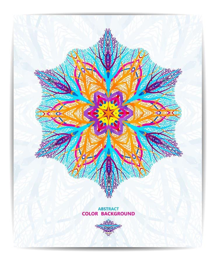 Schöner Hintergrund der Verzierung mit Mandala Perfekte Karten für Ihr Design Vector Abbildung, EPS10 vektor abbildung