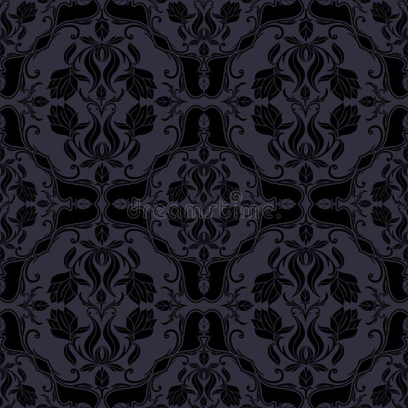 Schöner Hintergrund des Damastes, königliche, Luxusblumenverzierung, lizenzfreie abbildung