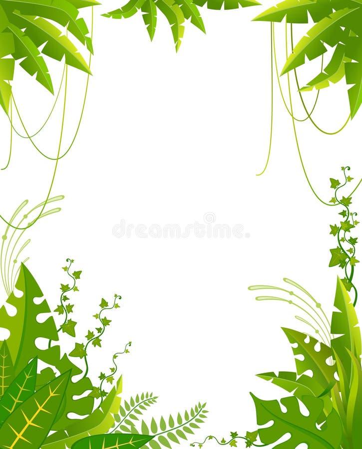 Schöner Hintergrund mit tropischen Anlagen vektor abbildung