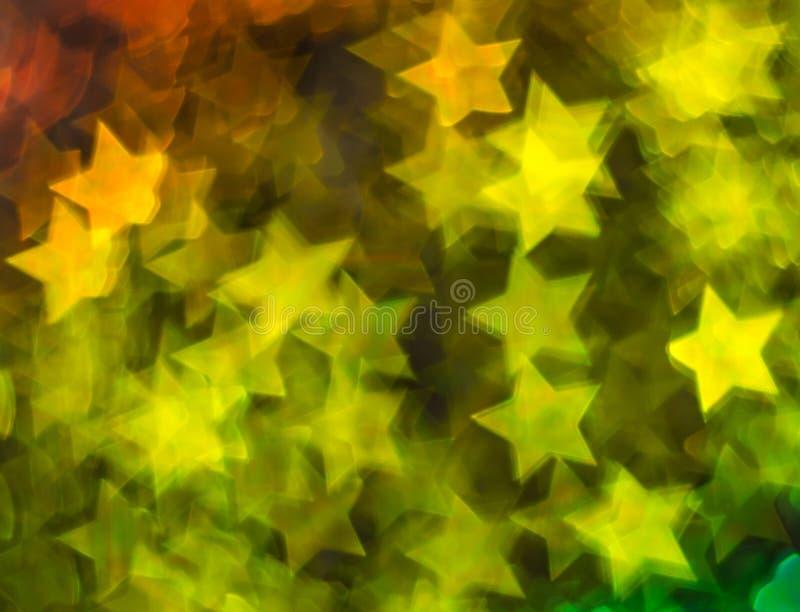 Schöner Hintergrund mit unterschiedlichem farbigem Stern, abstrakte Rückseite stockbild