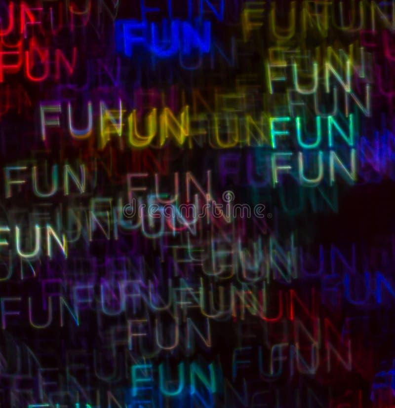 Schöner Hintergrund mit unterschiedlichem farbigem Wortspaß, abstraktes b lizenzfreie stockfotos