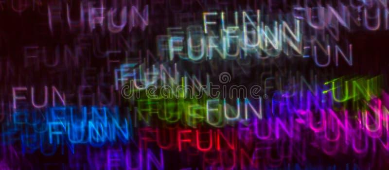 Schöner Hintergrund mit unterschiedlichem farbigem Wortspaß, abstraktes b stockbilder