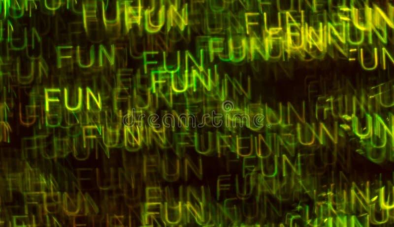 Schöner Hintergrund mit unterschiedlichem farbigem Wortspaß, abstraktes b lizenzfreies stockbild