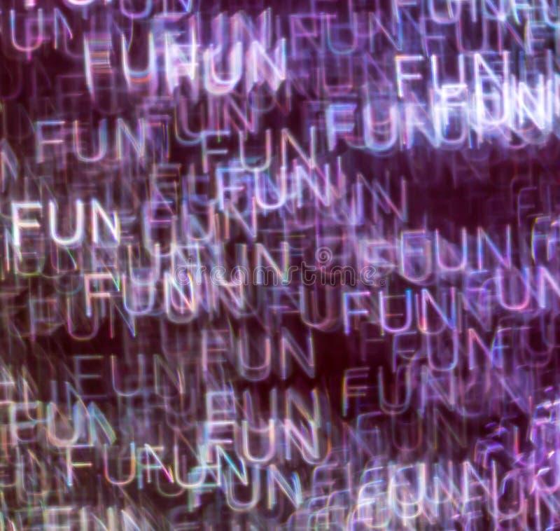 Schöner Hintergrund mit unterschiedlichem farbigem Wortspaß, abstraktes b lizenzfreies stockfoto