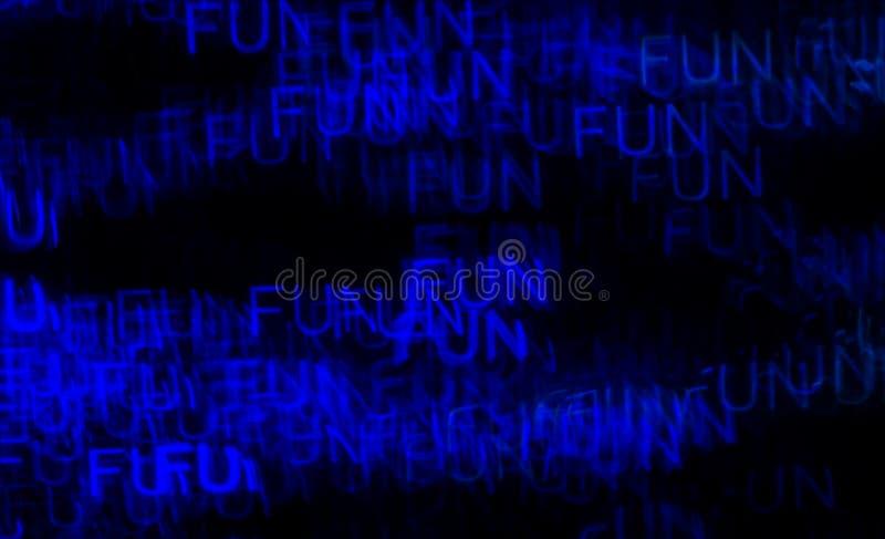Schöner Hintergrund mit unterschiedlichem farbigem Wortspaß, abstraktes b lizenzfreie stockfotografie
