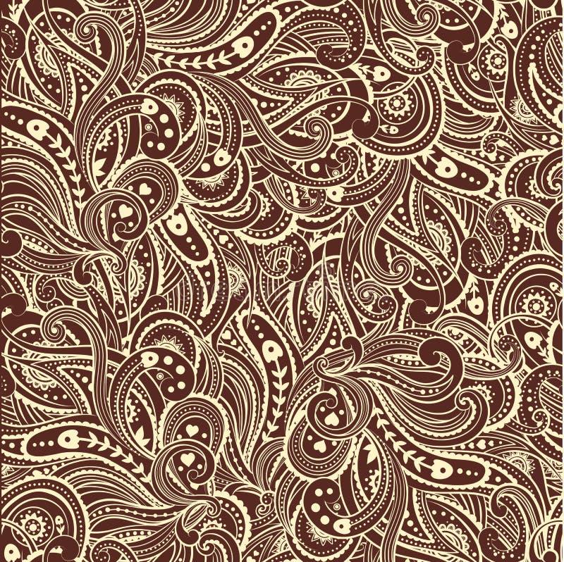 Schöner Inder Paisley lizenzfreie abbildung