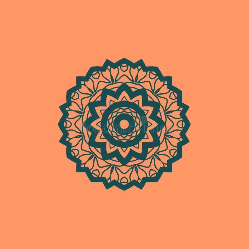 Schöner indischer nahtloser Verzierungsmit blumendruck Ethnische Mandala Fabrik Vektor-Buddhismusart Meditations-Druck verwendbar lizenzfreie abbildung