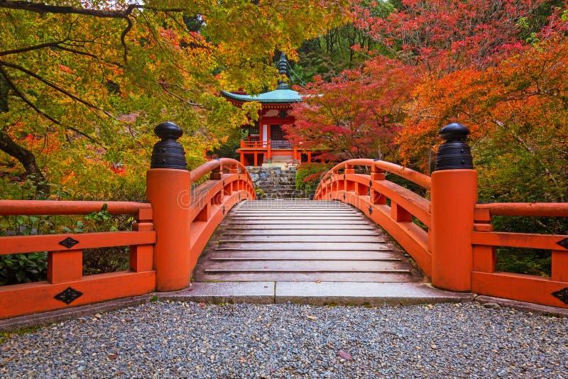 Schöner japanischer Garten mit bunten Ahornbäumen im Herbst lizenzfreie stockfotografie