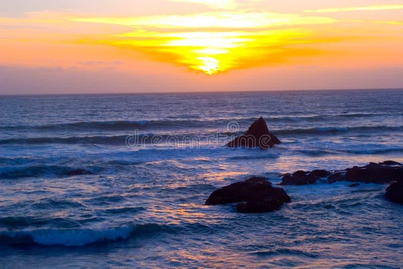 Schöner Kalifornien-Sonnenuntergang stockfoto