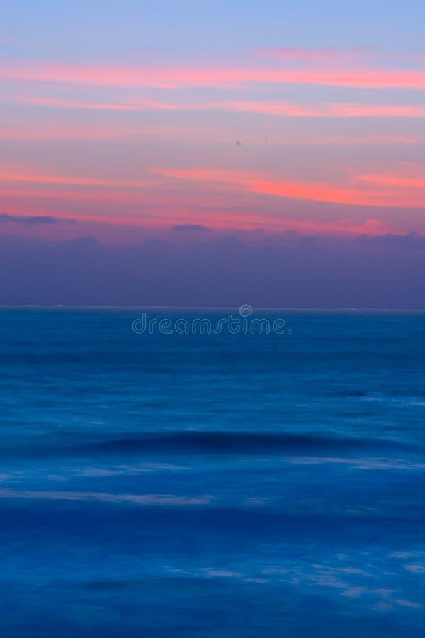Schöner Kalifornien-Sonnenuntergang lizenzfreies stockbild