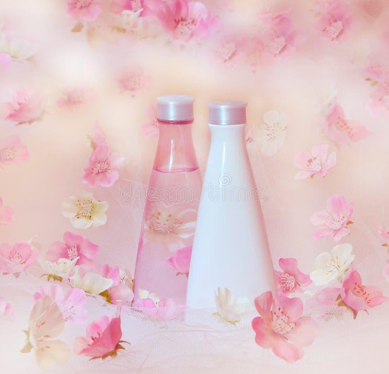 Schöner kosmetischer Hintergrund lizenzfreie stockbilder
