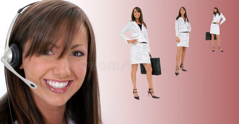 Schöner lächelnder Kundendienst-Repräsentant stockbilder